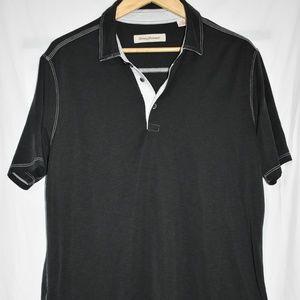 Tommy Bahama men's black polo shirt  size large